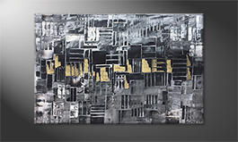Le tableau mural 'Golden Lights' 120x80cm