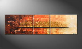 Le tableau mural 'Golden Night' 210x60cm