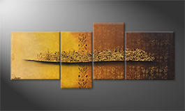 Le tableau mural 'Golden Nights' 200x80cm