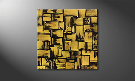 Le tableau mural 'Golden Signs' 80x80cm