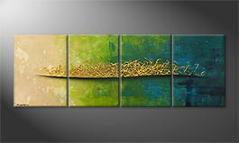Le tableau mural 'Golden Summer' 200x70cm