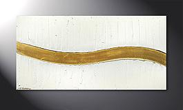 Le tableau mural 'Golden Wave' 120x60cm