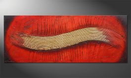 Le tableau mural 'Golden Wing' 150x60