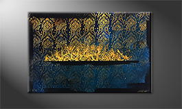 Le tableau mural 'Golden Wish' 120x80cm