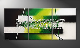Le tableau mural 'Green Connection' 180x80cm