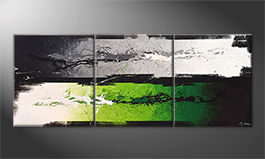 Le tableau mural 'Green Dimension' 180x70cm