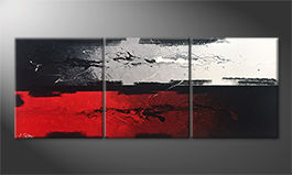 Le tableau mural 'Heart and Head' 180x70cm