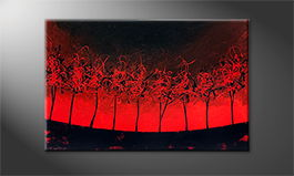 Le tableau mural 'Hot Trees' 120x80cm