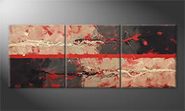 Le tableau mural 'Inner Impulse' 180x70cm