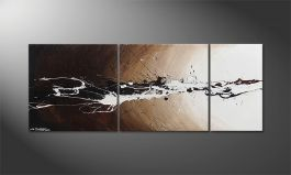 Le tableau mural 'Light Eruption' 130x50cm