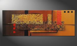 Le tableau mural 'Liquid Gold' 150x55cm