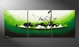Le tableau mural 'Liquid Gold' 180x70cm