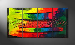 Le tableau mural 'Living Rainbow' 160x80cm