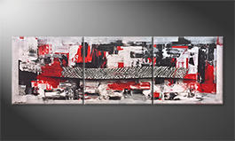 Le tableau mural 'Middle Of Contrast' 210x70cm