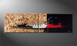 Le tableau mural 'Modern Dream' 200x60cm