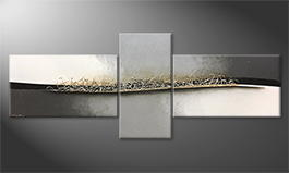 Le tableau mural 'Moving Silver' 250x100cm