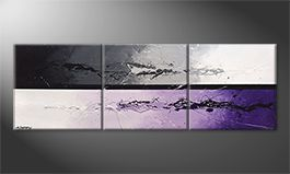 Le tableau mural 'Night Color Splash' 210x70cm