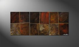 Le tableau mural 'Potpouri of Memories' 120x50cm