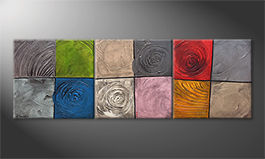Le tableau mural 'Potpourri Of Moments' 210x70cm