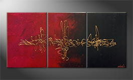 Le tableau mural 'Pulsating Gold' 150x70cm