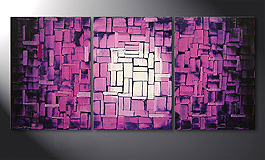 Le tableau mural 'Purple Afterglow' 150x70cm