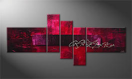 Le tableau mural 'Purple Night' 180x80cm
