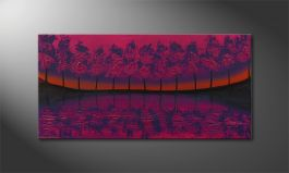 Le tableau mural 'Purple Tree' 120x60cm