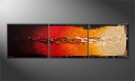 Le tableau mural 'Rage Of Earth' 210x60cm