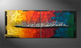 Le tableau mural 'Rainbow Element' 200x80cm