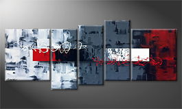 Le tableau mural 'Red Change' 190x80cm