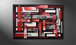Le tableau mural 'Red Clouds' 100x70cm