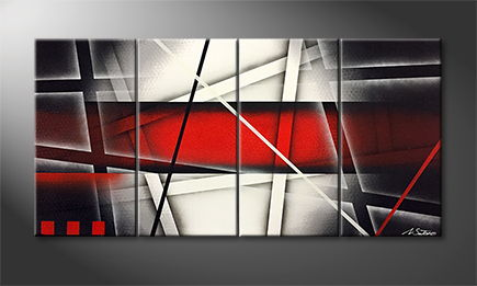 Le tableau mural 'Red Labyrinth' 120x60cm