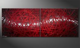 Le tableau mural 'Red Push' 160x60cm