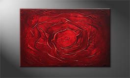 Le tableau mural 'Red Rose' 120x80cm