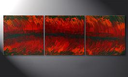 Le tableau mural 'Riven Red' 180x60cm