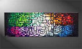 Le tableau mural 'Scattered Light' 210x70cm
