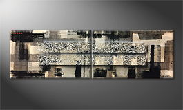 Le tableau mural 'Shadow Connection' 200x60cm