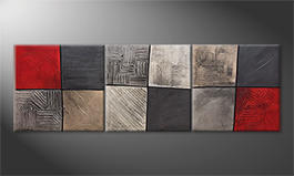 Le tableau mural 'Silver Breeze' 210x70cm