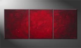 Le tableau mural 'Simply Red' 210x90cm