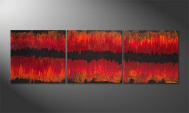 Le tableau mural 'Split Red' 180x60cm