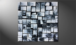 Le tableau mural 'Stained Steel' 100x100cm