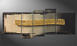 Le tableau mural 'The Golden Wave' 190x80cm