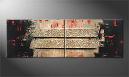 Le tableau mural 'Two Ways' 180x60cm