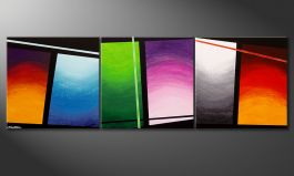 Le tableau mural 'Wave of Colors' 210x70cm
