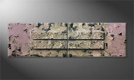 Le tableau mural 'Whispery Silver' 200x60cm