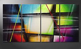 Le tableau mural 'Window to Rainbow' 160x80cm