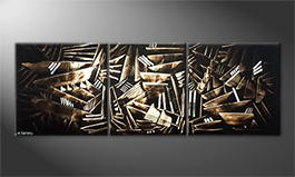 Le tableau mural 'Wooden Secret' 210x70cm