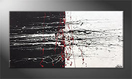 Le tableau pour salon 'Black-White Battle' 140x70cm