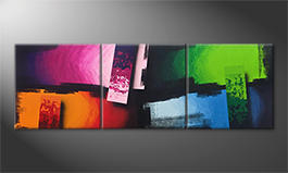 Le tableau pour salon 'Color Clash' 210x70cm