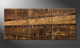 Le tableau pour salon 'Copper Move' 180x80cm